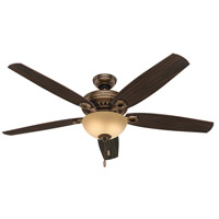 Hunter Fans Valerian 2 Light Indoor Ceiling Fan in Bronze Patina 54061