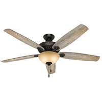 Hunter Fans Valerian 2 Light Indoor Ceiling Fan in Brittany Bronze 54062