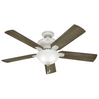 Hunter Fan 54091 Matheston 52 inch Cottage White with Grey Pine Blades Outdoor Ceiling Fan