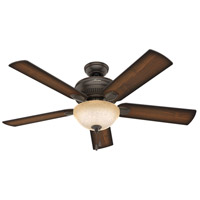 Hunter Fan 54092 Matheston 52 inch Onyx Bengal with Burnished Alder/Alder Blades Outdoor Ceiling Fan