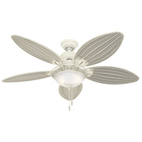 Caribbean Breeze 54 inch Textured White with Cream Wicker Blades Indoor Ceiling Fan