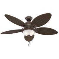 Hunter Fan 54095 Caribbean Breeze 54 inch Weathered Bronze with Antique Dark Wicker Blades Ceiling Fan