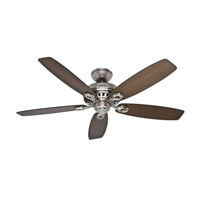 Markham 52 inch Brushed Nickel with Medium Walnut/Dark Walnut Blades Indoor Ceiling Fan