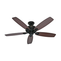 Markham 52 inch Matte Black with Harvest Mahogany/Roasted Walnut Blades Indoor Ceiling Fan