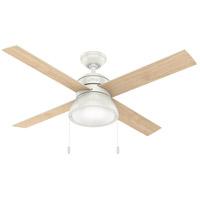 Hunter Fan 54151 Loki 52 inch Fresh White with Fresh White/Natural Wood Blades Ceiling Fan