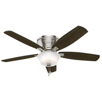 Estate Winds 56 inch Brushed Nickel with Dark Walnut/Autumn Walnut Blades Indoor Ceiling Fan