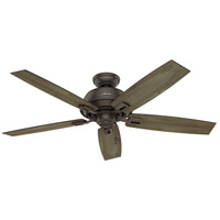 Hunter Fan 54167 Donegan 52 inch Onyx Bengal with Grey Pine/Sienna Oak Blades Outdoor Ceiling Fan