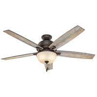 Hunter Fans Donegan LED Indoor Ceiling Fan in Onyx Bengal with Barnwood/Dark Walnut Blades 54170