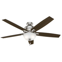 Hunter Fans Donegan LED Indoor Ceiling Fan in Brushed Nickel with Distressed Oak/Dark Walnut Blades 54172