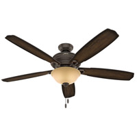 Ambrose 60 inch Onyx Bengal with Burnished Aged Maple/Aged Maple Blades Ceiling Fan
