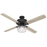 Hunter Fan 54177 Brunswick 60 inch Natural Iron with Grey Oak/Aged Oak Blades Ceiling Fan
