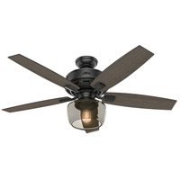 Bennett 52 inch Matte Black with Grey Walnut/Burnt Walnut Blades Ceiling Fan