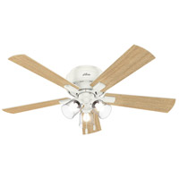Hunter Fan 54207 Crestfield 52 inch Fresh White with Drifted Oak/Fresh White Blades Ceiling Fan