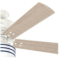 Hunter Fan 55077 Cedar Key 52 inch Fresh White with Washed Walnut/Light Stripe Blades Outdoor Ceiling Fan alternative photo thumbnail