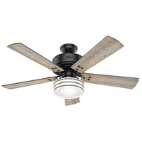 Hunter Fan 55078 Cedar Key 52 inch Matte Black with Barnwood/Black Willow Blades Outdoor Ceiling Fan