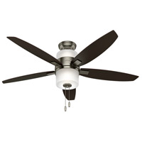 Domino 52 inch Antique Pewter with Dark Walnut/Rosewood Blades Indoor Ceiling Fan