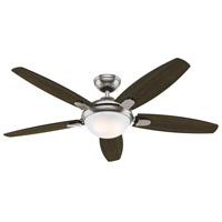 Hunter Fan 59013 Contempo 52 inch Brushed Nickel with Dark Walnut/English Cherry Blades Ceiling Fan