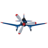 Fantasy Flyer 48 inch Blue with Gray Blades Indoor Ceiling Fan