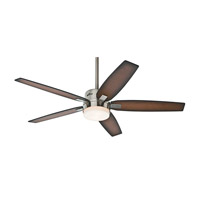 Windemere 54 inch Brushed Nickel with Burnished Walnut/Burnished Mahogany Blades Ceiling Fan, Prestige