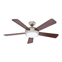Hunter Fans Palermo 1 Light Indoor Ceiling Fan in Brushed Nickel 59049