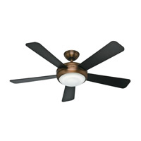 Hunter Fans Palermo 1 Light Indoor Ceiling Fan in Brushed Bronze 59050
