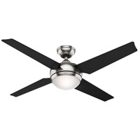 Sonic 50 inch Brushed Nickel with Black/Maple Blades Indoor Ceiling Fan