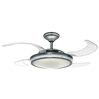 Hunter Fan 59085 Fanaway 48 inch Brushed Chrome with Clear Blades Ceiling Fan