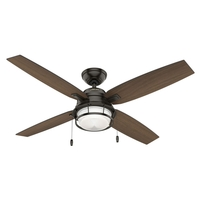 Hunter Fan 59214 Ocala 52 inch Noble Bronze with Roasted Maple/Washed Walnut Blades Outdoor Ceiling Fan