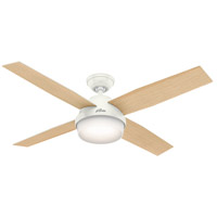 Hunter Fans Dempsey LED Indoor Ceiling Fan in Fresh White with Fresh White/Blonde Oak Blades 59217