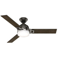 Hunter Fans Leoni LED Indoor Ceiling Fan in Noble Bronze and Brushed Nickel with Dark Walnut/Black Oak Blades 59219