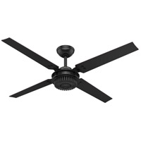 Hunter Fan 59235 Chronicle 54 inch Matte Black with Matte Black/Black Willow Blades Outdoor Ceiling Fan