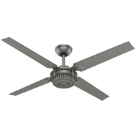 Hunter Fan 59236 Chronicle 54 inch Matte Silver with Matte Silver/Walnut Blades Outdoor Ceiling Fan