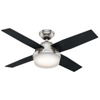 Hunter Fan 59245 Dempsey 44 inch Brushed Nickel with Black Oak/Chocolate Oak Blades Ceiling Fan