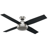 Hunter Fan 59249 Dempsey 52 inch Brushed Nickel with Black Oak/Chocolate Oak Blades Ceiling Fan
