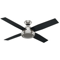 Hunter Fan 59249 Dempsey 52 inch Brushed Nickel with Black Oak/Chocolate Oak Blades Ceiling Fan alternative photo thumbnail