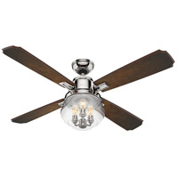 Sophia 54 inch Polished Nickel with Ombre Cherry/Cherry Blades Ceiling Fan