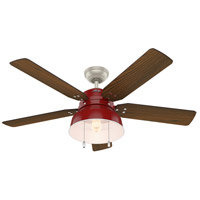 Hunter Fan 59309 Mill Valley 52 inch Barn Red with Medium Walnut/Black Willow Blades Ceiling Fan