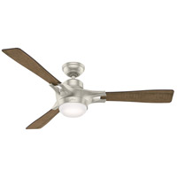 Hunter Fan 59378 Signal 54 inch Matte Nickel with Reclaimed Walnut/Burnt Oak Grain Blades Ceiling Fan