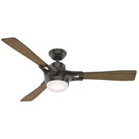 Hunter Fan 59379 Signal 54 inch Noble Bronze with Worn Oak/Reclaimed Walnut Blades Ceiling Fan