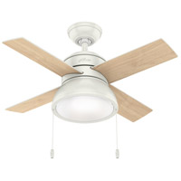 Hunter Fan 59385 Loki 36 inch Fresh White with Fresh White/Natural Wood Blades Ceiling Fan