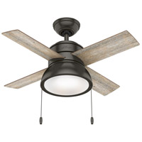 Hunter Fan 59387 Loki 36 inch Noble Bronze with Barnwood/Drifted Oak Blades Ceiling Fan