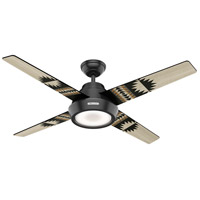 Hunter Fan 59389 Pendleton 54 inch Matte Black with Spider Rock/Eagle Rock Blades Ceiling Fan