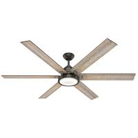 Hunter Fan 59397 Warrant 70 inch Noble Bronze with Barnwood/Drifted Oak Blades Ceiling Fan