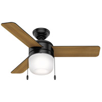 Hunter Fan 59410 Acumen 42 inch Matte Black with Matte Black/American Walnut Blades Ceiling Fan photo thumbnail
