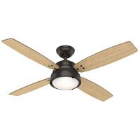 Hunter Fan 59438 Wingate 52 inch Noble Bronze with Drifted Oak/American Walnut Blades Ceiling Fan