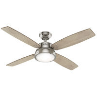 Hunter Fan 59439 Wingate 52 inch Brushed Nickel with Bleached Grey Pine/American Walnut Blades Ceiling Fan