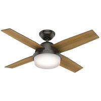 Hunter Fan 59444 Dempsey 44 inch Noble Bronze with Mid Century Walnut/Umber Walnut Blades Ceiling Fan