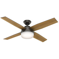 Hunter Fan 59446 Dempsey 52 inch Noble Bronze with Mid Century Walnut/Umber Walnut Blades Ceiling Fan
