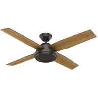 Hunter Fan 59448 Dempsey 52 inch Noble Bronze with Mid Century Walnut/Umber Walnut Blades Ceiling Fan