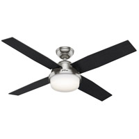 Hunter Fan 59451 Dempsey 52 inch Brushed Nickel with Black Oak/Chocolate Oak Grain Blades Ceiling Fan